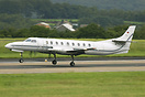 Seen here touching down at Leeds Airport operating on behalf of manx2