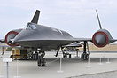 Lockheed A-12 sits in the Blackbird Memorial park, with its birthplace...