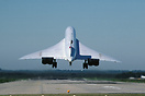An unusual view of Concorde arriving on RWY08 at Hurn, operating an en...