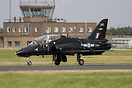 BAE hawk that was due to take part in the Role Demo