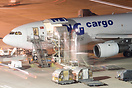 MNG Cargo's Airbus A300F seen getting loaded