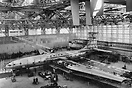 Picture taken circa 1946. The Bristol Brabazon in her new Assembly Hal...