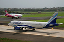 Both indian low cost carriers, Indigo and Goair in one picture. They s...