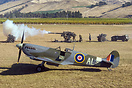 Spitfire is safe on the ground and not in the sights of the 88mm anti ...