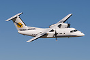Saturday only this nice Dash 8 demonstrated its handling qualities and...