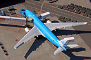 An overview of KLM's A330. Taken from the air.