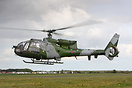 Very rare appearance of ex Army 'XZ299' Gazelle at Breightons May Fly-...