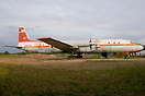 This old Interflug IL-18 has been moved by truck to its new location a...
