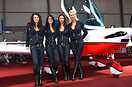 The Promotion Girls at Aero Expo posing with the CZAW SportCruiser