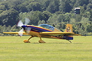 Extra 300 G-JOKR arrives at Wycombe Air park
