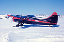 on skies seen departing on the frozen Great Slave Lake near Yellowknif...