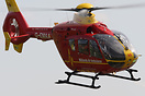 Midlands Air Ambulance (Bond Air Services) Eurocopter EC-135 departing...