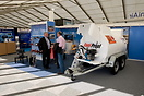 Trade stand of Fuel Proof at Helitech demonstrating a range of aviatio...