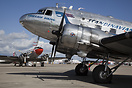 This SAS DC-3 is operated by Flygande Veteraner Sweden, pictured behin...
