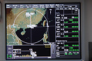 The high-tech navigation display on the Falcon 7X as part of Honeywell...