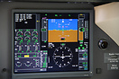 The high-tech Primary Flight Display on the Falcon 7X as part of Honey...