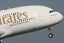 Emirates 40 departing Birmingham with a passenger load of 316+9, ramp ...