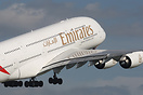 Emirates EK40 departing Birmingham with a passenger load of 316 +9 inf...