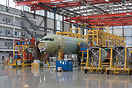 Brand new A321 for Aerflot at the final assembly line in Hamburg-Finke...