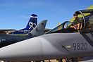 The Czech Air Force contributed three aircraft to the static display a...