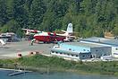 An aerial view of the tanker base at Sproat Lake - home to the Martin ...