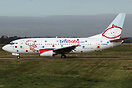 "BMI Baby Boeing 737 ""Pudsey Baby"" sporting a special ""Spotty"" paint sc..."