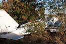 Piper PA-23-250 Aztec B buried in a bush next the the Apron at Maun. O...