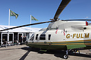 Air Harrods Sikorsky S-76 outside the companies chalet at Helitech 20...