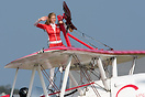 One of the Guinot girls after her wingwalking display