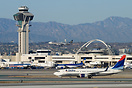 An overview of LAX airport. The control tower as well as the famous En...