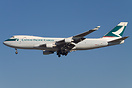 A Cathay Pacific Cargo Boeing 747-400F landing at LAX