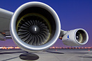 wideangled closeup of the Engine Alliance GP7000 engines on this Airbu...
