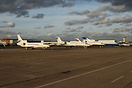 Flight line on a friday afternoon whilst many planes are ready for an ...
