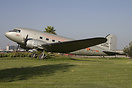 This DC-3 is displayed by the Restaurant Proud Bird, which is located ...