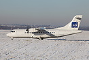 This SAS (Cimber air) ATR-42 had diverted to Birmingham the previous d...