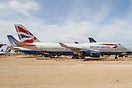 A British Airways B747-400 withdrawn from use and stored at Victorvill...