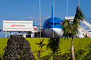 An Air Tahiti Nui Airbus 340 with catering truck preparing it for the ...