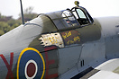 BBMF Hurrican IIC displayed in 1 squadron markings. It displays the le...