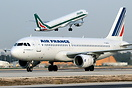 Seen taxiing in from CDG with Alitalia A321 departing to FCO in the ba...