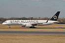 This B757 is painted in the Star Alliance scheme