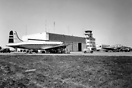 Overview of Stavenger Sola Airport circa 1958 with a Loftleidir Icelan...