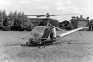 A Hiller 12B helicopter seen here fitted with agricultural crop spray ...