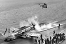 A Royal Navy Westland Wyvern S4 WP337 about to launch from H.M.S Ark R...